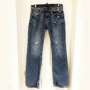 Buffalo Straight Leg Distressed Don Jeans, 28x34